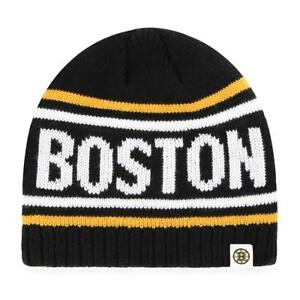 New-Licensed-Boston-Bruins-Old-Time-Hockey-Knit-Beanie-Hat-S48