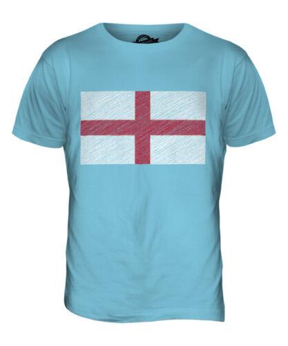 ENGLAND SCRIBBLE FLAG MENS T-SHIRT TEE TOP GIFTFOOTBALL SHIRT