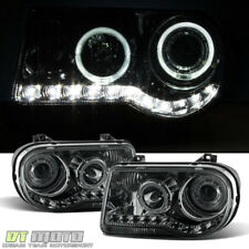 Smoked 2005 2010 Chrysler 300c Led Halo Projector Headlights 05 10 Leftright Fits Chrysler 300