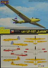 """Segelflugzeug Let LF-107 """"Lunak"""" , 1:72,  Admiral ,CZ Bemalungen, NEU"""