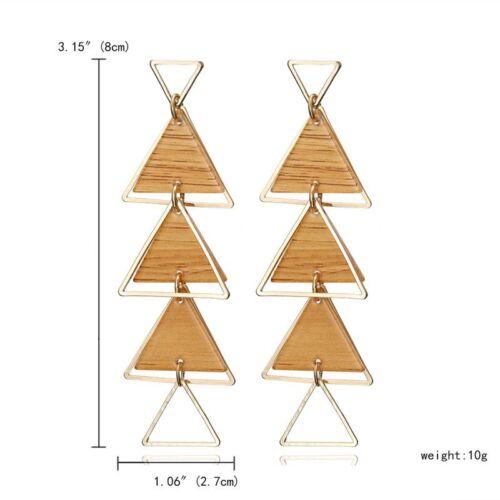 Charm geometric star Triangle Tassel Drop Dangle Ear Stud Boucles d/'oreilles Femmes Bijoux