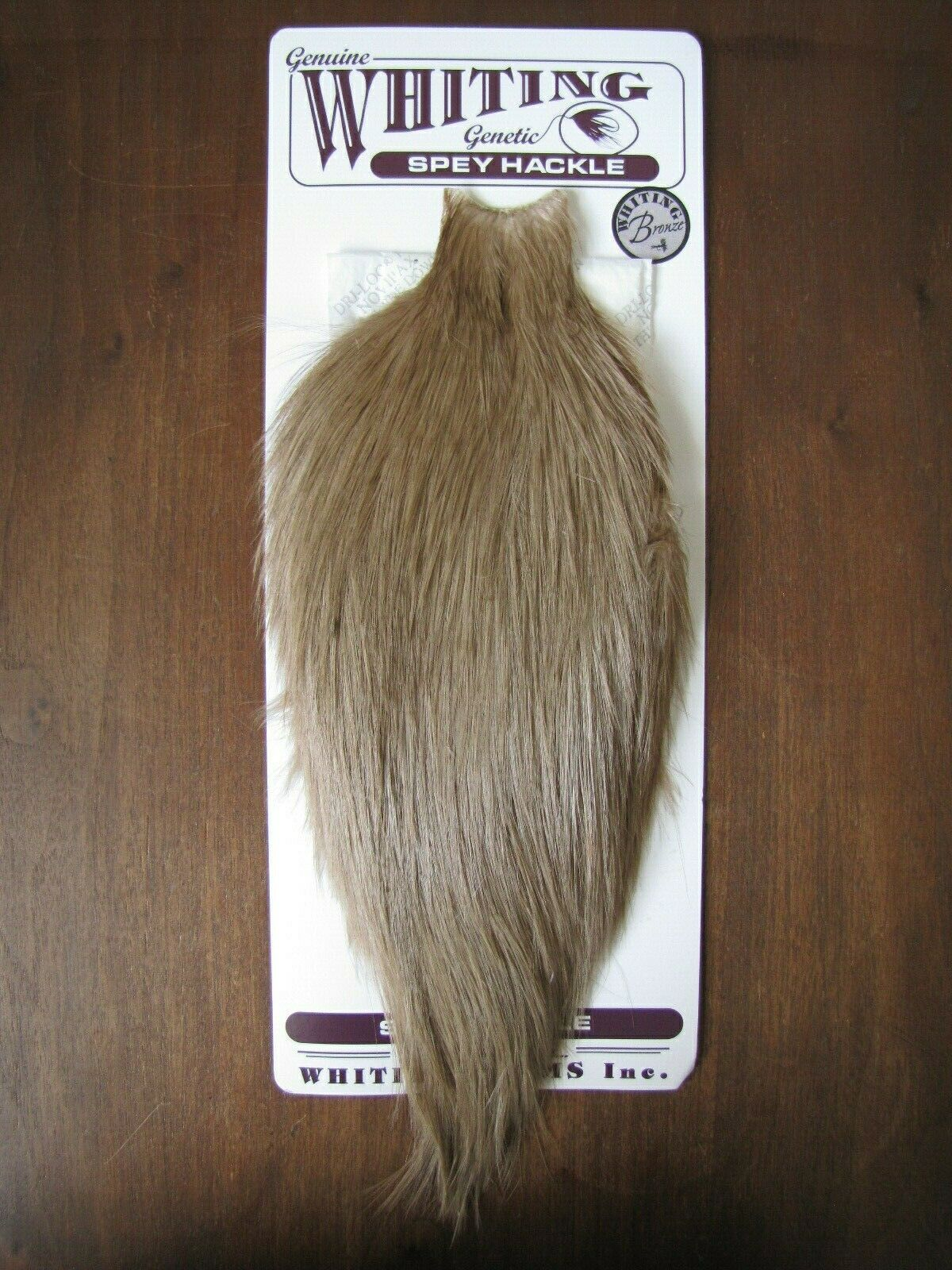 Fly TyingWhiting Bronze Spey Rooster Cape bianca dyed Tan  A
