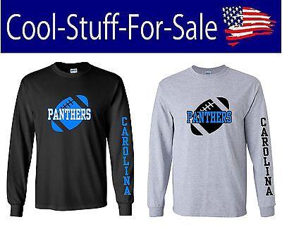 Carolina Panthers Claw Scratch Football Long Sleeve Shirt