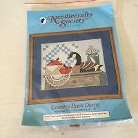 Needlecrafts Society Crewel Country Duck Decoy Crewel Kit