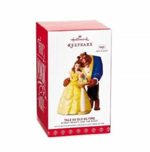 Hallmark-2017-Beauty-and-the-Beast-Disney-Magic-Ornament-Tale-As-Old-As-Time-NIB