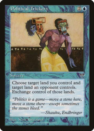 Political Trickery Mirage NM-M Blue Rare MAGIC THE GATHERING MTG CARD ABUGames