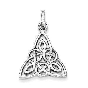 Sterling Silver Polished Celtic Symbol Pendant
