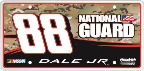 #88 Dale Earnhardt Jr National Guard Camoflauge License Plate RS8811B