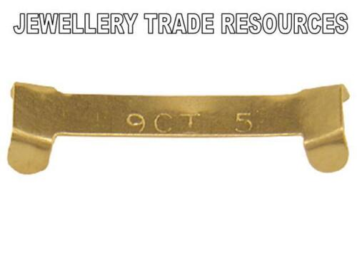NEW 9ct YELLOW GOLD RING CLIP TO REDUCE 2.5mm WIDE RING/'S FINGER SIZE