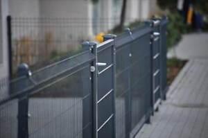 Gartenzaun 3d Zaun 40 Lfm 173cm Hoch Inkl Pfosten Und Tor 1m Breit