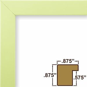 Craig Frames Confetti, Modern Light Green Solid Wood Picture Frame