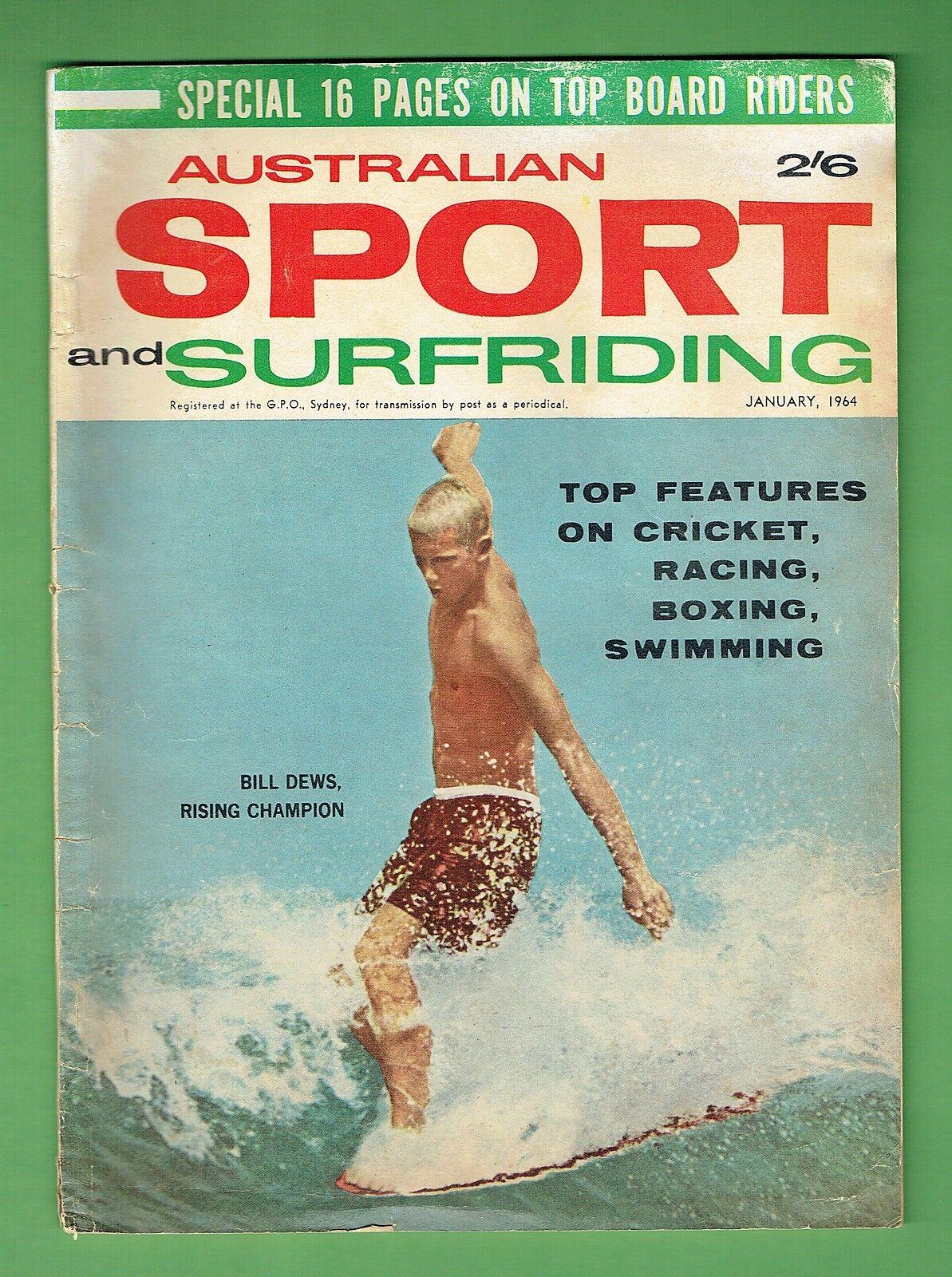 D172. AUSTRALIAN SPORT AND SURFRIDING MAGAZINE, JANUARY 1964