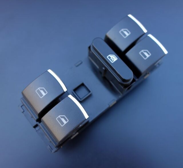 Für VW Golf 5 6 Plus Passat 3C CC Tiguan Touran Jetta Alu Fensterheber Schalter-