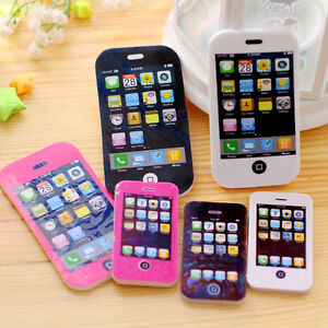 1X iPhone Shaped Rubber Pencil Eraser Cute Gift Toy Students Creative Stationery