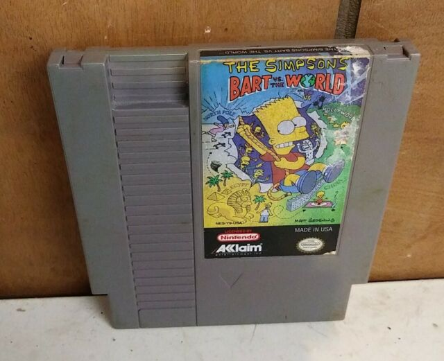 The Simpsons: Bart vs. the World Nintendo NES cart only Tested