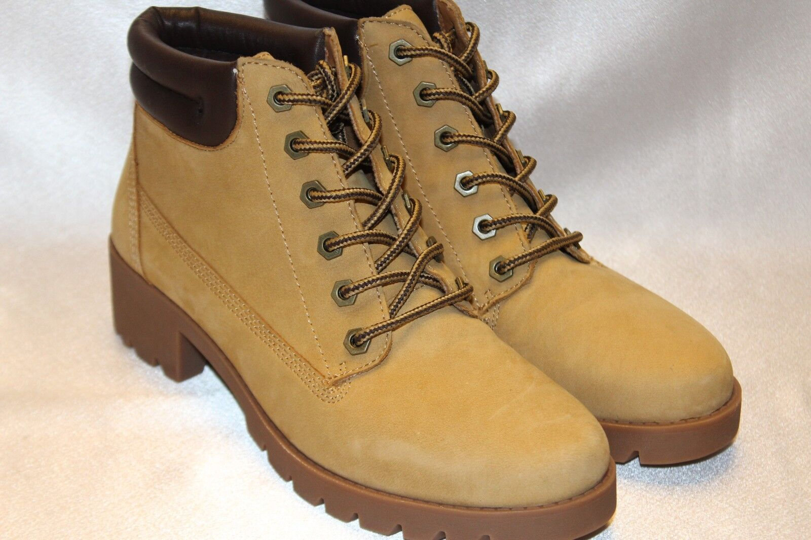 NEU  ALDO Soft Light Tan Leder MUTIGNANO Hiking Padded Ankle Boot Sz 9.5