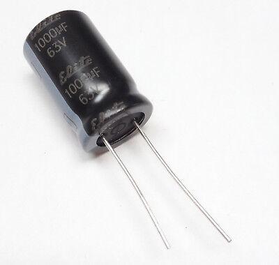 2 pezzi 2 x 1000UF 25V Condensatore Elettrolitico verticale 10x17mm 105g