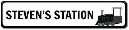 Train Sign Metal Train Station Sign ENSA1001056 Personalized Kid/'s Room Sign