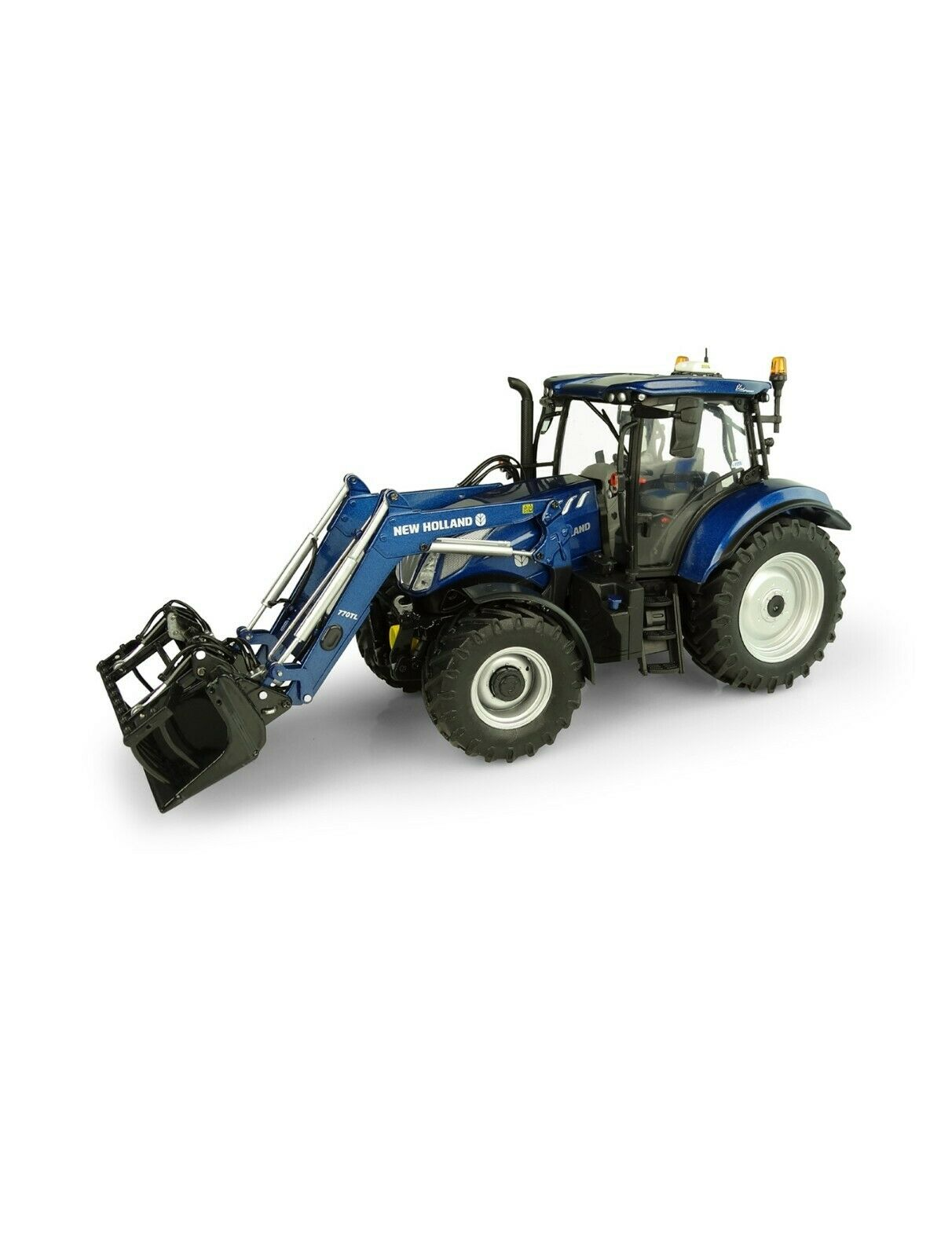 Model tractor New Holland t6.175 bluee Power Scale 1 32 Metal uh5320