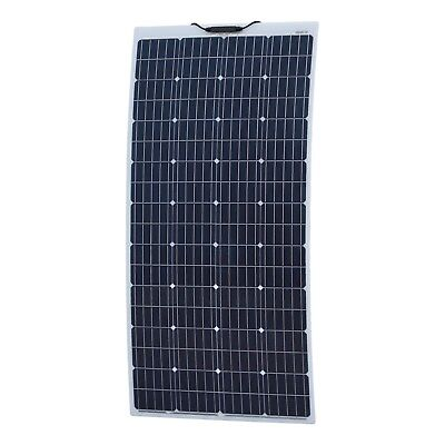 German Solar Cells 120W 12V Aluminium Reinforced Semi-Flexible Solar Charging Kit