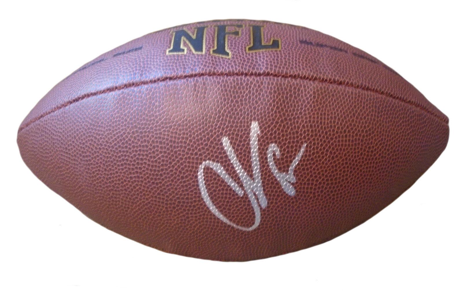 Bengals Patriots Ocho Cinco Chad Johnson Firmado NFL Football a Prueba