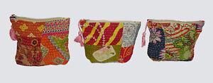 10Pc-Wholesale-Lot-Women-Pouch-Kantha-Purse-Clutch-Bag-Cotton-Vintage-Handbag
