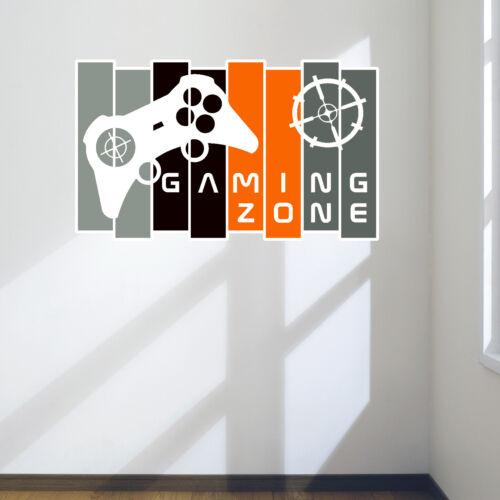 Games Room Cool Gamer Wall Art Panel Controller Wall Art Decal Sticker