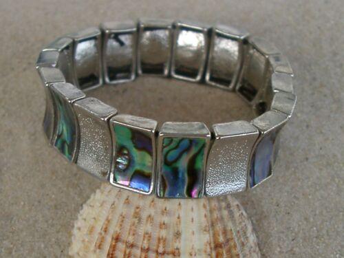 Paua Muschel Armband  dehnbar