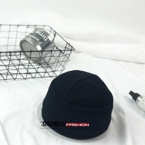 Men Lady Knitted Hats Beanie Skullcap Sailor Docker Fisherman Cuff Brimless Cap