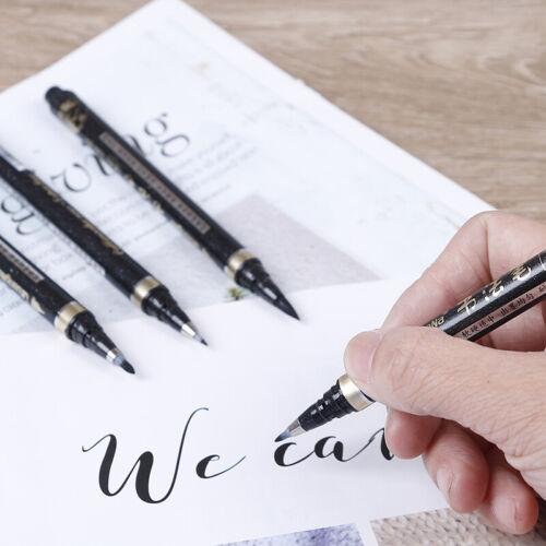 4Pcs calligraphy brush pen art craft supplies office school writing tools.