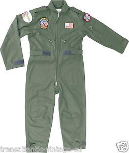 Kids volo tuta per bambini US Aviazione Top Gun Pilota AVIATORI ARMY abbigliamento  </span>