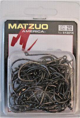 1000 Matzuo 130010 Black Live Bait O/'Shaughnessy Fish Fishing Hooks size 6//0