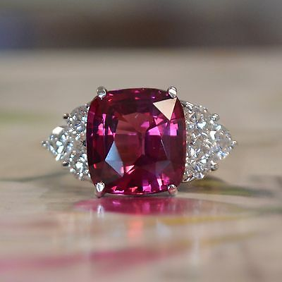 10 Ct Tw Huge Cushion Natural Pink Spinel Amp Diamond
