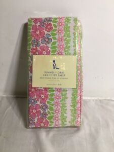 Pottery Barn Kids ALYSSA/'S FLOWER GARDEN Fitted CRIB SHEET Girls NEW Yellow Pink
