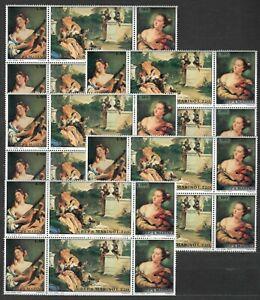 DEALER-STOCK-SAN-MARINO-MNH-Nuovi-1970-Tiepolo-paintings-3v-10-SETS-s32638