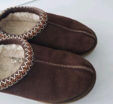 b745c66b10d UGG Australia Netta Tasman Black Suede Fur Slippers Womens Size 8 ...