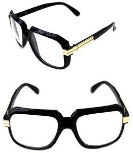 1e14cc1273ed Men s Hip Hop 80 s Vintage 607 Clear Lens Eye Glasses RUN DMC Black ...
