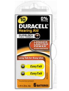 24 Duracell Hörgerätebatterien Easytab TYP10 Hörgerät  5,85 x 3,6mm
