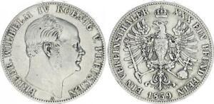 Preußen 1 Thaler Friedrich Wilhelm IV 1859A MBC 54817