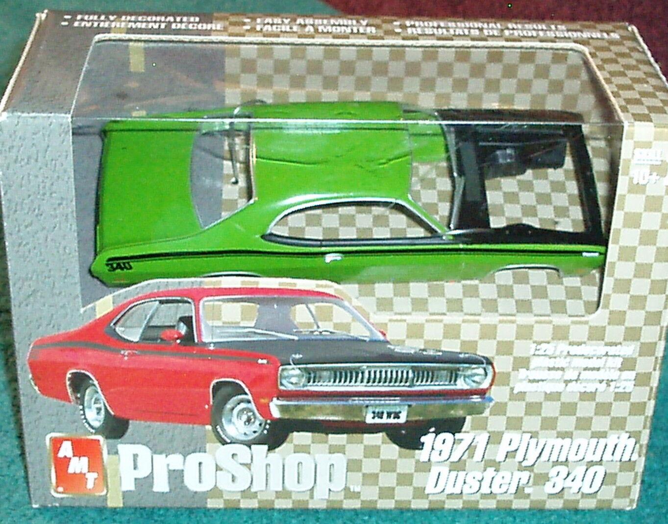 Aluminium Modèle Jouets Pro Shop 1971 PLYMOUTH DUSTER 340 Vert 1 25 prépeint PLASTIC MODEL KIT