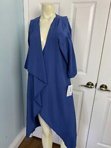 Lularoe-Shirley-Kimono-Nuovo-Piccolo-Tinta-Unita-Blu-Taglia-Small-Soft-Coverup-Nuovo-con-etichette