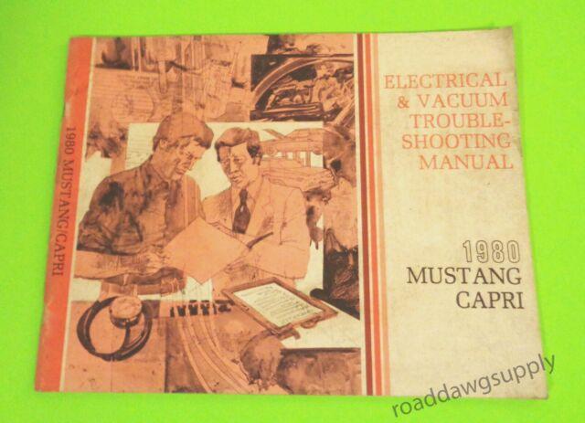1980 Ford Mustang Mercury Capri Electrical Wiring Diagrams