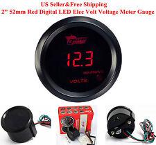"""US 2"""" 52mm Red Digital LED Elec Volt Voltage Meter Gauge Boat Car AUTO 0~15V"""