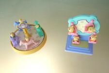 2 CHILDS CAKE TOPPERS -- 2 FAMILIES OF 4 MINI KITTIES WITH PLAY GROUND EQUIPMENT