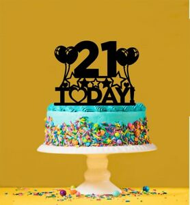 Image Is Loading 21st Birthday Cake Topper 21 Years Old Twenty