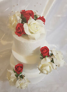 Image Is Loading Wedding Anniversary Birthday Cake Topper Set Ivory Amp
