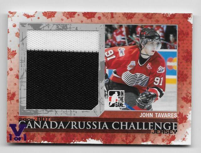 2007-08 ITG Canada/Russian Challenge Jersey John Tavares Silver /50