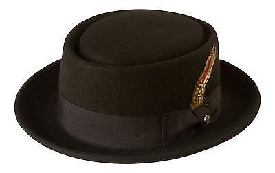 Black Pork Pie Hat 100% Wool Felt,Mod/Ska,Breaking Bad, Walter/Heisenberg Style