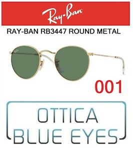 b49e81720f90 Occhiali da Sole RAYBAN RB 3447 col. 001 ROUND METAL Sunglasses Ray ...