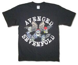 Avenged Sevenfold California Crest Black T Shirt New Official Adult Band Merch